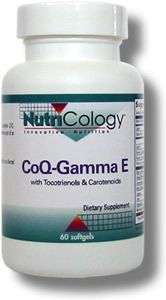CoQ-Gamma E with Tocotrienols & Carotenoids (60 softgels) NutriCology