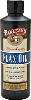 Organic Lignan Flaxseed Oil (16 oz)* Barleans Organic Oils