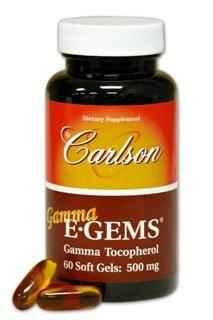 Gamma E-Gems | Gamma Tocopherol (500 mg - 60 soft gels) Carlson Labs