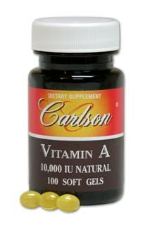 Vitamin A 10,000 IU Natural (100 soft gels) Carlson Labs