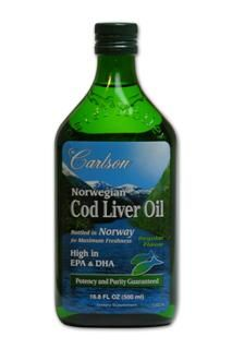 Cod Liver Oil | Natural Flavor (500mL) Carlson Labs