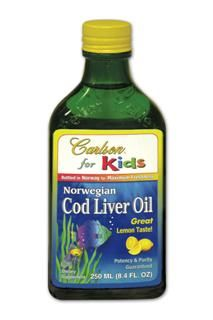 Carlson for Kids - Cod Liver Oil | Lemon Flavor (250ml) Carlson Labs