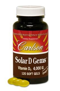 Solar D Gems 4000 IU (120 soft gels) Carlson Labs