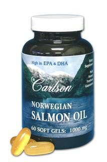 Norwegian Salmon Oil (1000 mg - 180 soft gels) Carlson Labs