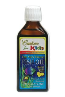 Carlson for Kids Very Finest Fish Oil (Lemon 200 mL)* Carlson Labs