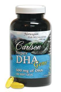 Super DHA (180 soft gels) Carlson Labs