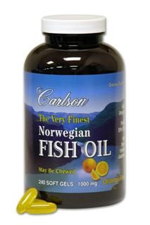 Very Finest Norw. Fish Oil(240 Liquid) Carlson Labs