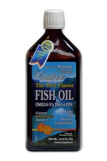 Very Finest Fish Oil Omega-3 Orange Flavor (500 ml) Carlson Labs