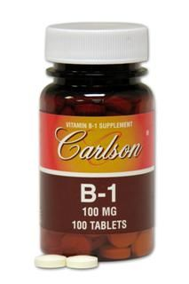 Vitamin B-1 100mg (100 tablets) Carlson Labs
