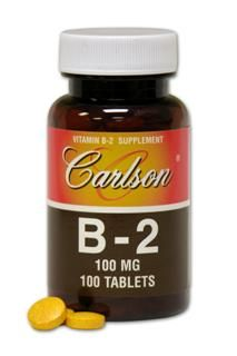 Vitamin B-2 100mg (100 tablets) Carlson Labs