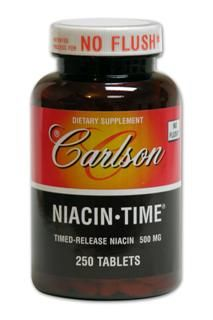 Niacin-Time 500mg (250 tablets) Carlson Labs
