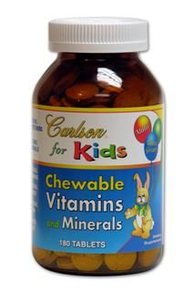 Kids Chewable Vitamins and Minerals (180 tabs) Carlson Labs