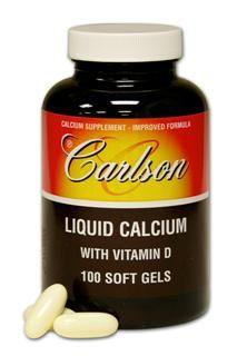 Liq Calcium (100 soft gels) Carlson Labs