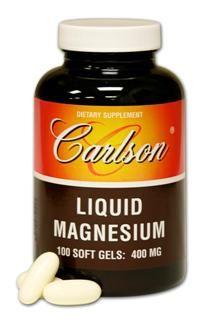 Liq Magnesium 400mg(100 soft gels) Carlson Labs