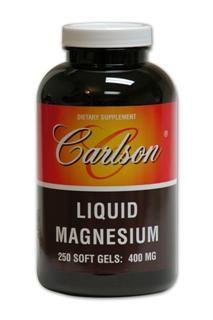 Liq Magnesium 400mg (250 soft gels) Carlson Labs
