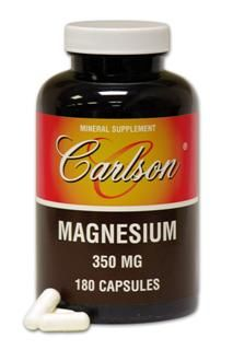 Magnesium Capsules (180 Capsule) Carlson Labs