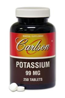Potassium 99mg (250 tablets) Carlson Labs
