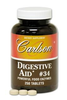 Digestive Aid # 34 (250 tablets) Carlson Labs