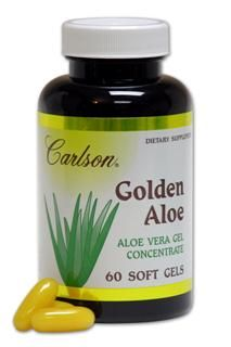 Golden Aloe 100mg (60 soft gels)* Carlson Labs