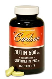 Rutin | Quercetin (500 mg, 150 tablets) Carlson Labs