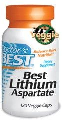 Best Lithium Aspartate (5mg 120 vcaps) Doctor's Best