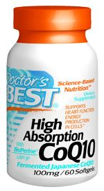 High Absorption CoQ10 (100 mg 60 softgels) Doctor's Best