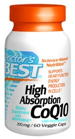 High Absorption CoQ10 (200 mg  60 vegi capsules) Doctor's Best