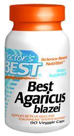 Best Agaricus blazei (400 mg 90 vegi capsules) Doctor's Best