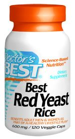 Best Red Yeast Rice (600 mg 120 vegi capsules) Doctor's Best