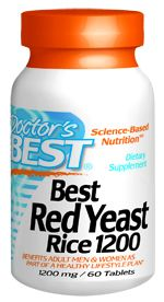 Best Red Yeast Rice (1200 mg 60 tablets) Doctor's Best