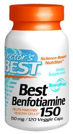 Best Benfotiamine (150 mg 120 vegi capsules) Doctor's Best