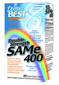 SAM-e 400, Double Strength (30 tablets) Doctor's Best