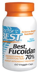 Best Fucoidan 70% Brown Seaweed  (60 vegi capsules) Doctor's Best