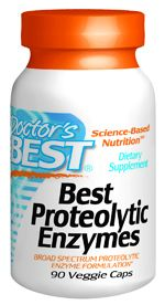 Best Proteolytic Enzymes (90 vegi capsules) Doctor's Best