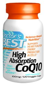 High Absorption CoQ10 (100 mg 120 vegi capsules) Doctor's Best
