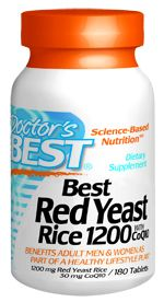 Best Red Yeast Rice 1200 with CoQ10 (180 tablets) Doctor's Best