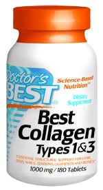 Best Collagen Types 1 & 3 (180 tablets) Doctor's Best
