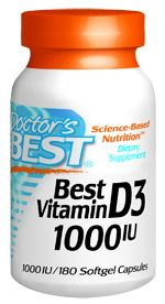 Best Vitamin D (1000IU 180  softgels) Doctor's Best
