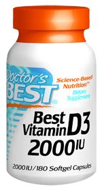 Best Vitamin D3 (2000IU 180  softgels) Doctor's Best
