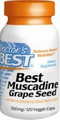 Best Muscadine Grape Seed (120 v-caps) Doctor's Best