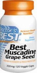 Best Muscadine Grape Seed (120 v-caps) Doctor's Best