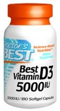 Best Vitamin D (5000 IU | 180 soft gels) Doctor's Best