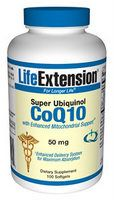 Super Ubiquinol CoQ10 w/ Enhanced Mitochondrial Support(50 mg 100 softgels)* Life Extension