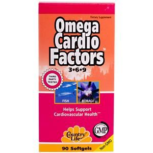 Omega Cardio Factors (90 Softgel) Country Life
