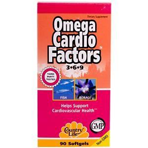 Omega Cardio Factors (90 Softgel) Country Life