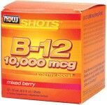 B-12 10,000 mcg (12 shots, 0.5 fl oz) NOW Foods