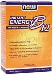 Instant Energy B-12 (2,000 mcg 75 Packets) NOW Foods