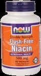Flush-Free Niacin 500 mg (90 vcaps) NOW Foods