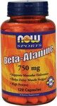 Beta-Alanine 750 mg (120 Capsules) NOW Foods