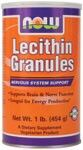 Lecithin Granules 97% Phosphatides (1 lb) NOW Foods
